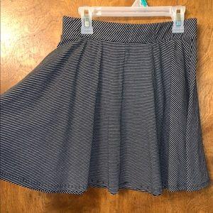 Grey and white skater skirt